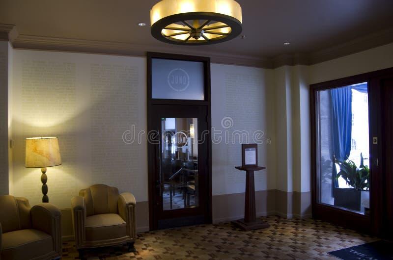 Hal van het luxe de historische hotel stock afbeelding