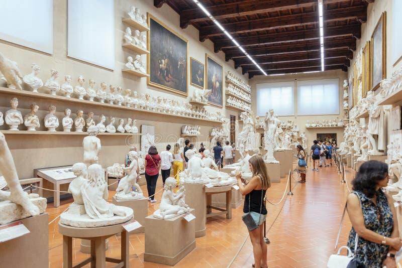 Hala Gipsoteca Bartolini w Museo dell`Accademia, Firenze, Włochy obrazy stock