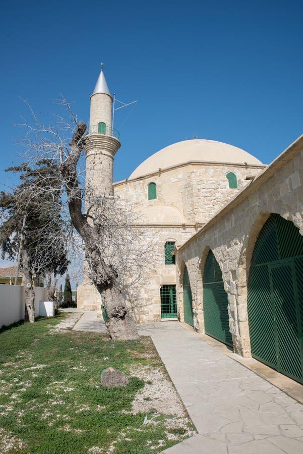 Hala Sultan Tekke in Cyprus stock afbeelding