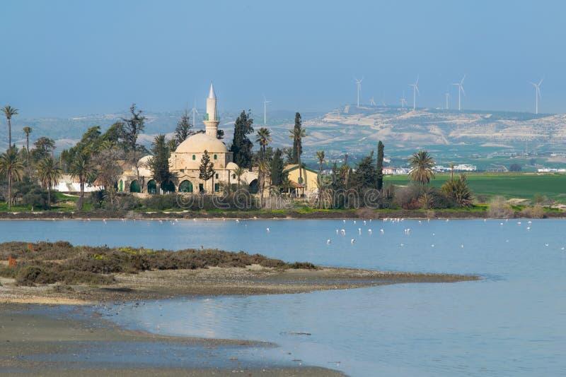 Hala Sultan Tekke en Chypre Larnaca photo libre de droits