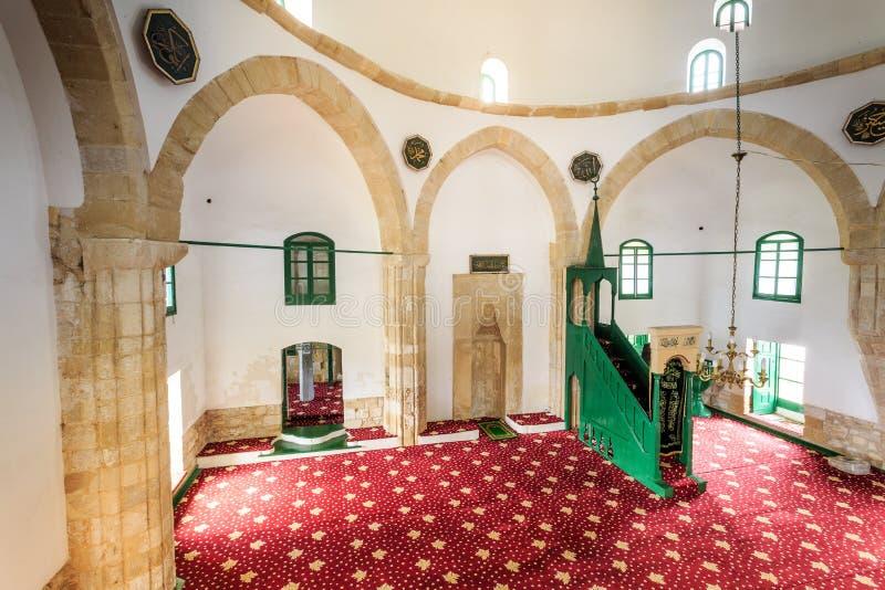 Hala Sultan Tekke - en historisk relikskrin, moské i Larnaca, Cypru royaltyfria foton