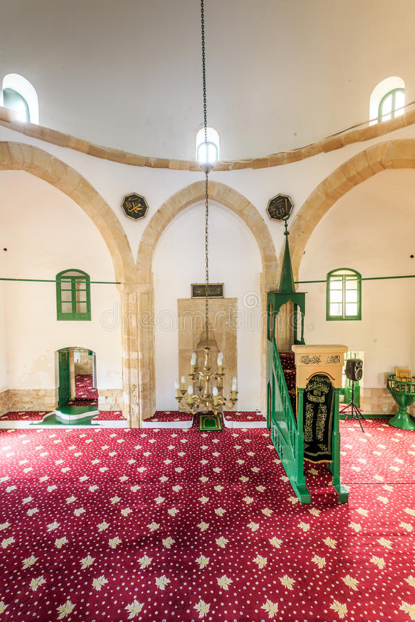 Hala Sultan Tekke - en historisk relikskrin, moské i Larnaca, Cypru arkivbilder