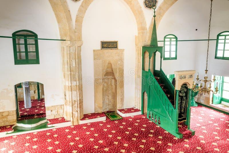 Hala Sultan Tekke - en historisk relikskrin, moské i Larnaca, Cypru royaltyfria bilder