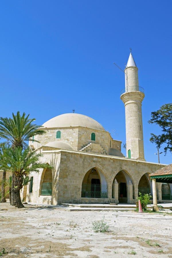 Hala Sultan Tekke Mosque cerca de Larnaca, Chipre fotografía de archivo