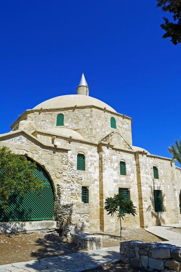 Hala Sultan Tekke Mosque cerca de Larnaca, Chipre imágenes de archivo libres de regalías