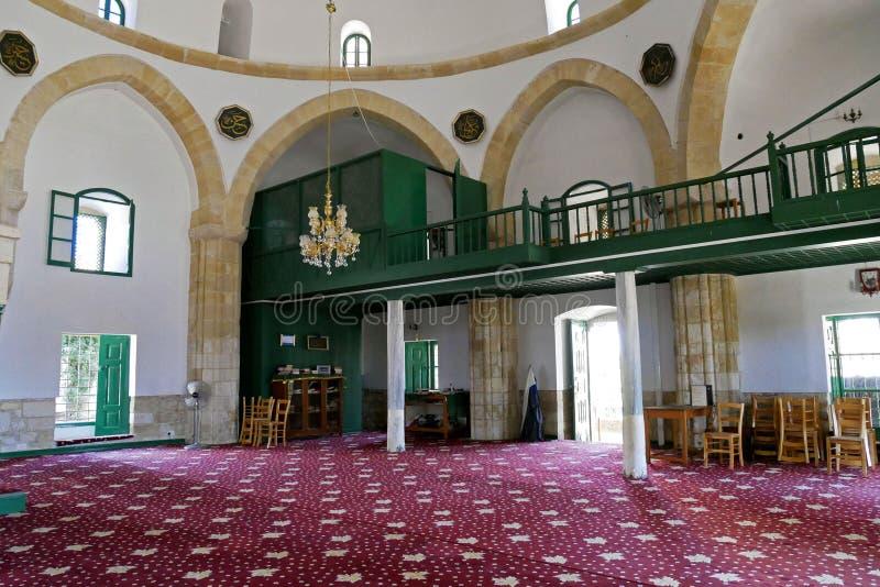 Hala Sultan Tekke Mosque cerca de Larnaca, Chipre imagen de archivo libre de regalías