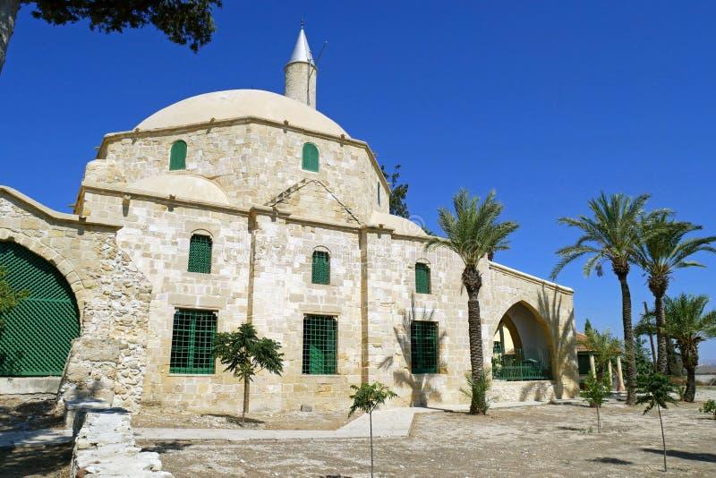 Hala Sultan Tekke Mosque cerca de Larnaca, Chipre fotos de archivo libres de regalías