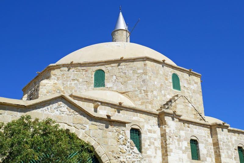 Hala Sultan Tekke Mosque cerca de Larnaca, Chipre imagen de archivo