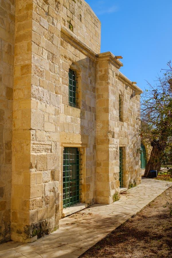 Hala Sultan Tekke Mosque i Cypern royaltyfria foton