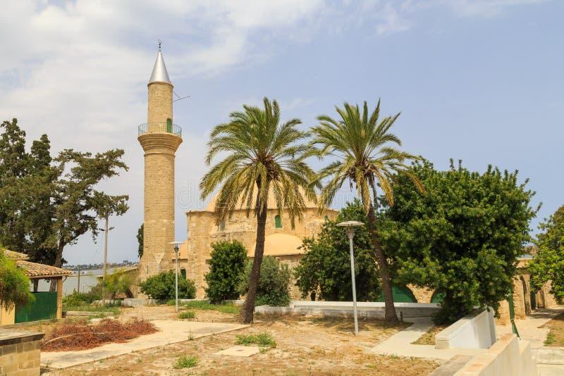 Hala Sultan Tekke på Cypern royaltyfri fotografi