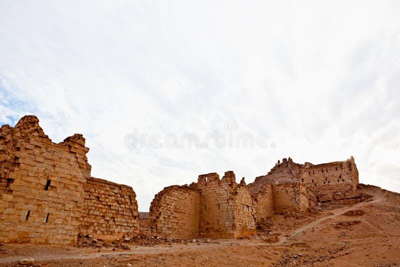 halabia叙利亚城镇zenobia 库存照片