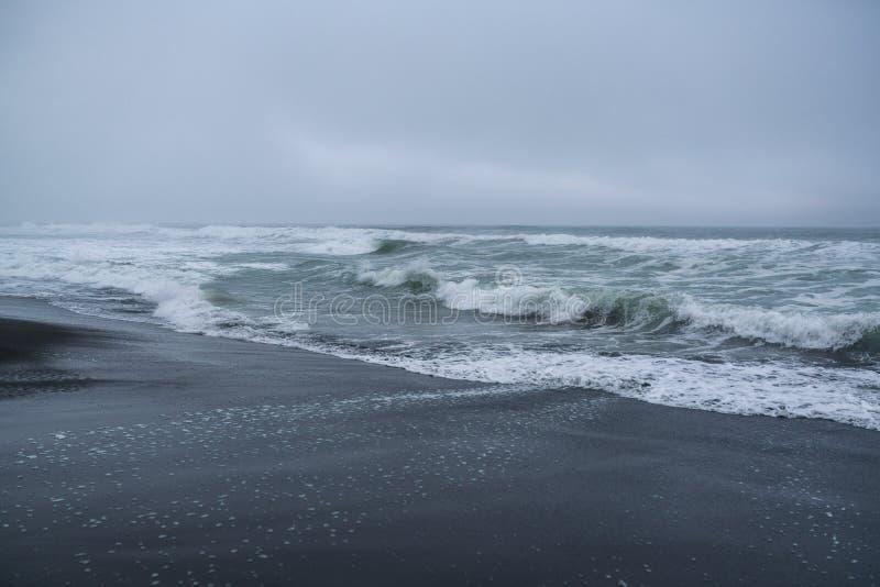 Halaktyr strand kamchatka Rysk federation royaltyfri fotografi