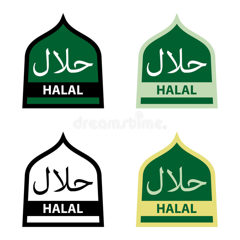 Download Halal Food stock illustration. Image of symbol, halal - 27650987