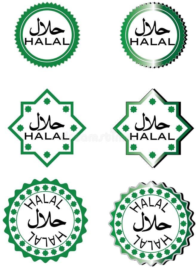 Halal karmowa etykietka ilustracji