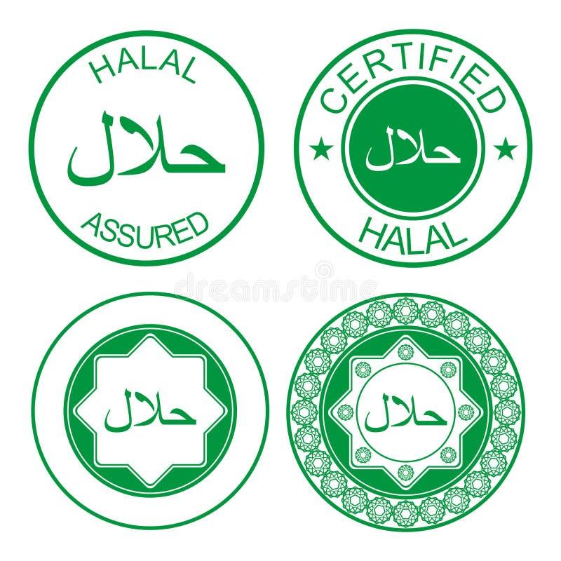 Halal rubber stamp royalty free illustration