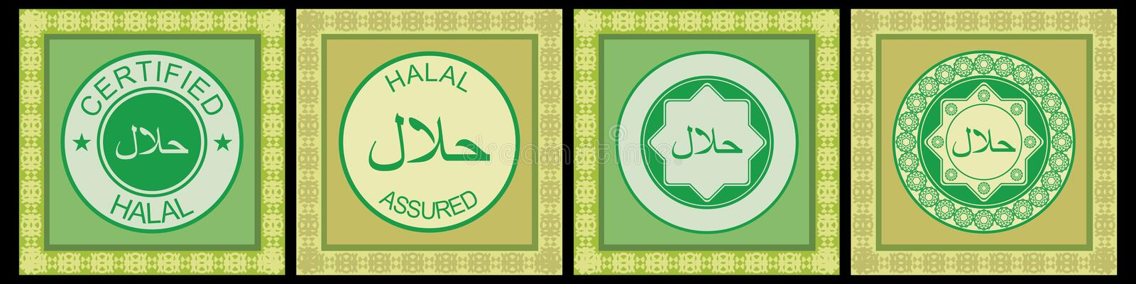 Halal rubber stamp royalty free illustration