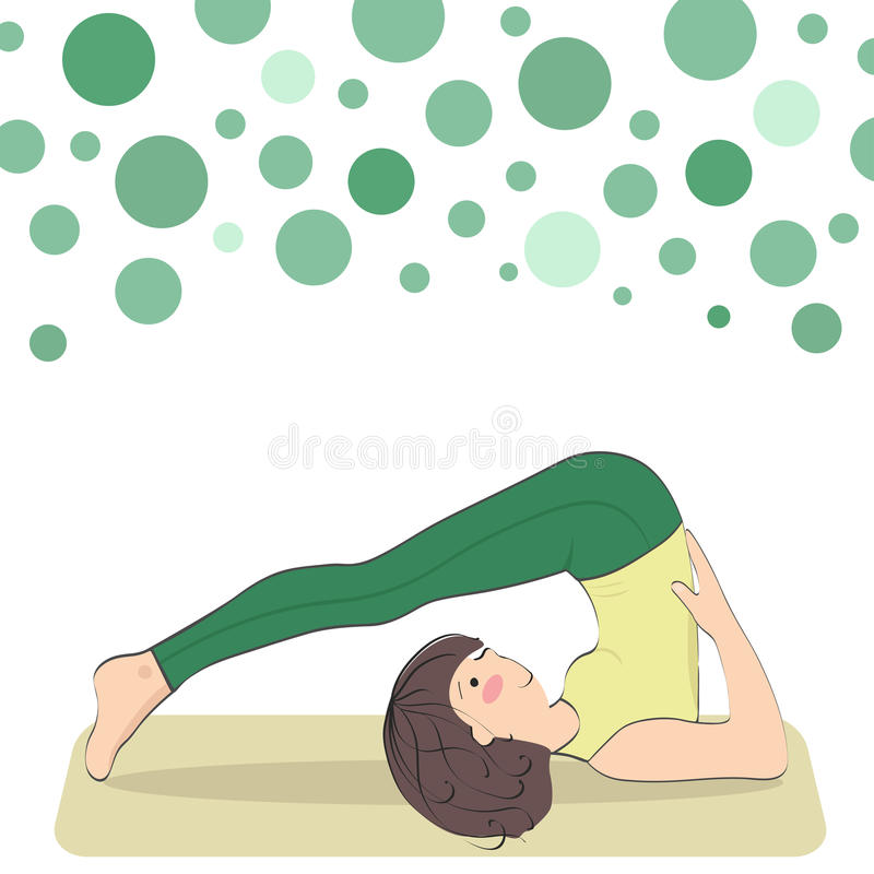 Halasana. Inverted asana of medium difficulty level stock illustration
