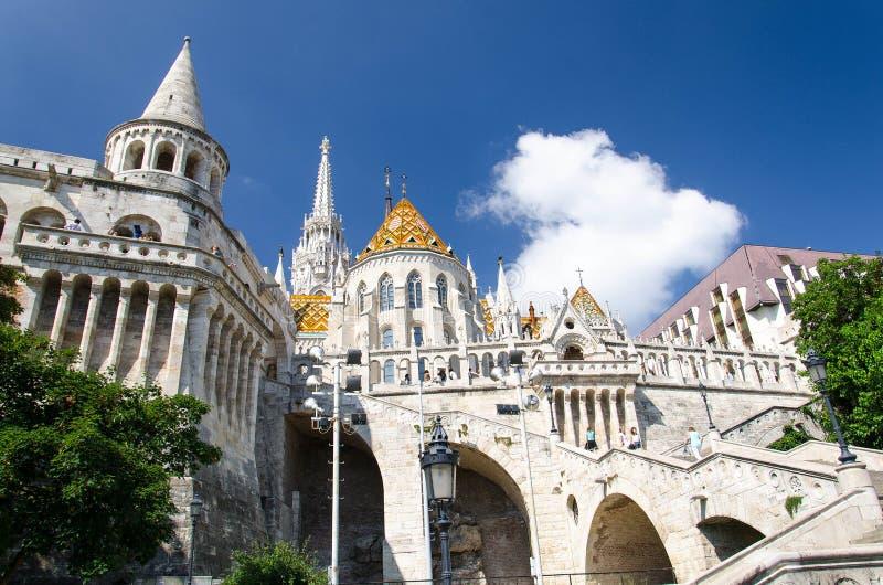 Halaszbastya fiskare Bastion, Budapest, Ungern royaltyfri fotografi