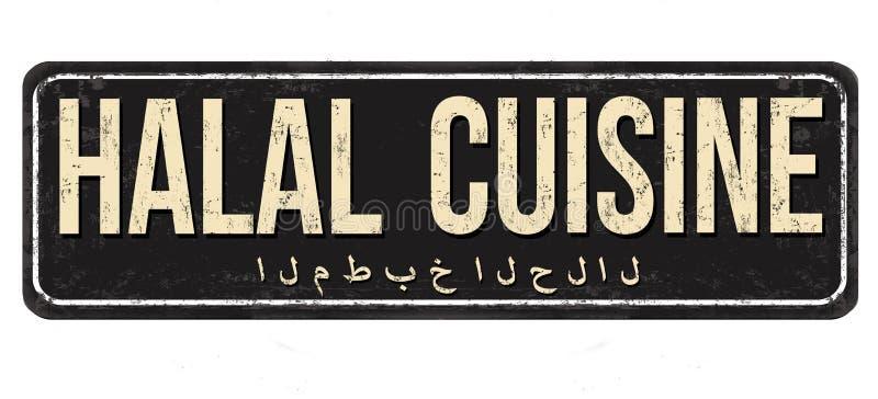 Halb-Cuisine-Vintage rostiges Metallzeichen stock abbildung