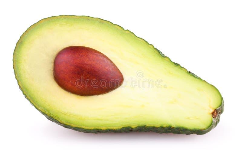 Halbe Avocado lokalisiert auf Weiß lizenzfreies stockbild