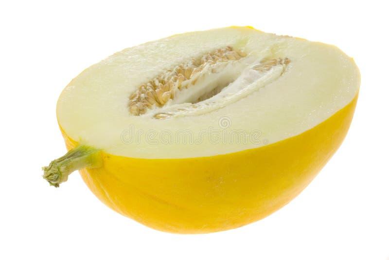 Halbe Honigweißmelone lizenzfreie stockfotos