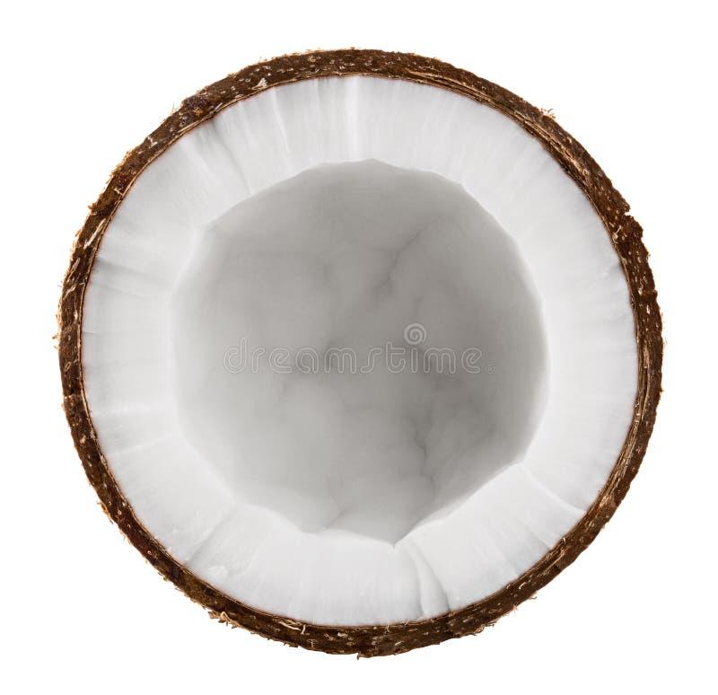 Halbe Kokosnuss stockfoto