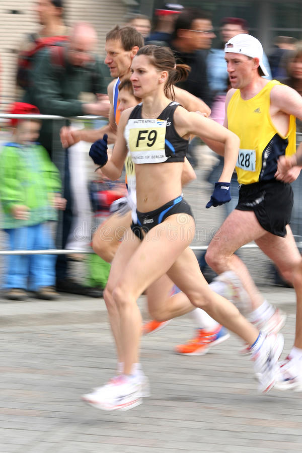 Halbe Marathonseitentriebe lizenzfreies stockbild