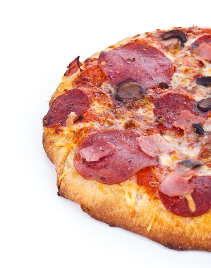 Halbe Pizza stockfotos