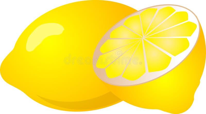 Halbe Zitrone lizenzfreie abbildung