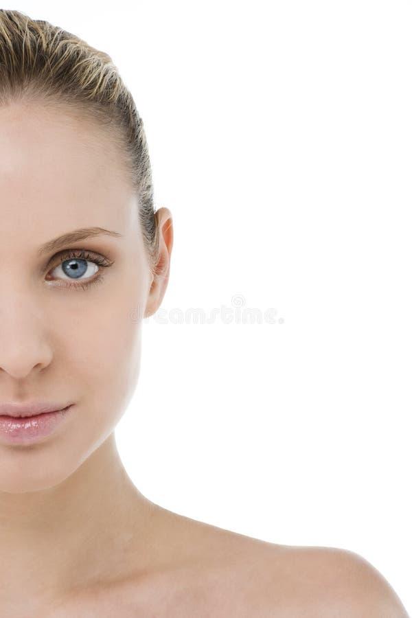 Halbes Gesicht der Frau lizenzfreie stockbilder