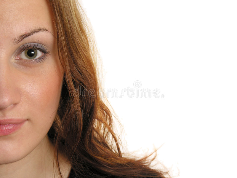 Halbes Gesicht des Mädchens lizenzfreie stockfotografie