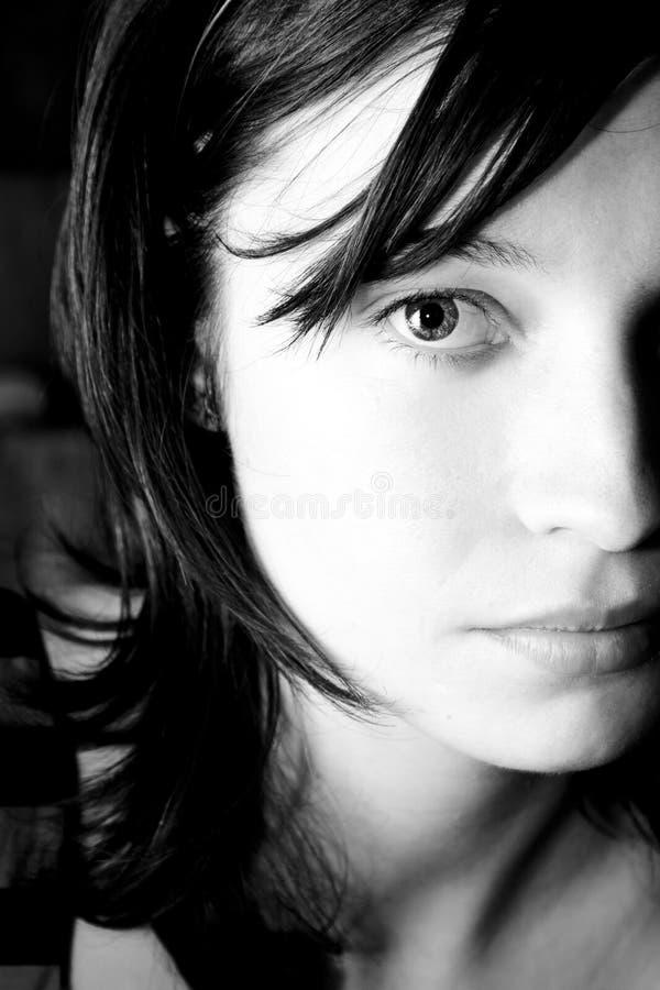 Halbes Gesichtsportrait lizenzfreie stockbilder