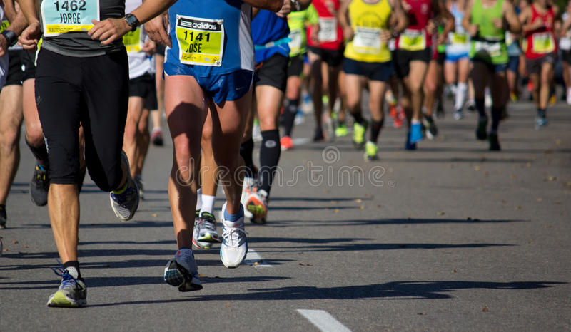 Halbes Marathon stockfoto