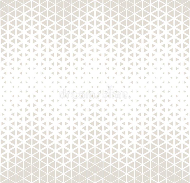 Halbton-hexagone und Dreieck abstrakter geometrischer subtiler deco Kunst drucken Muster lizenzfreie abbildung