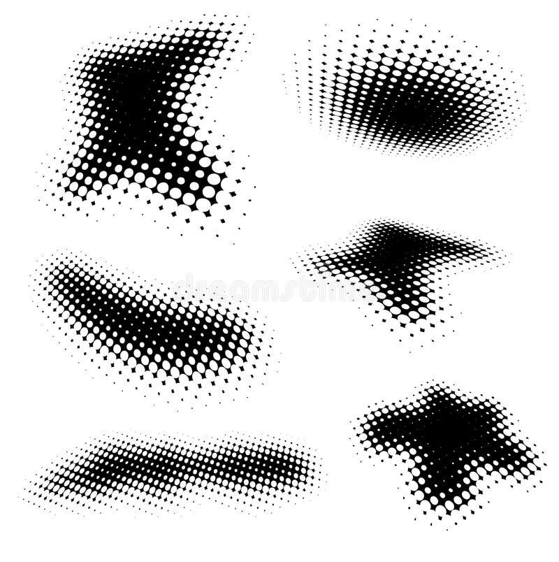 Halbtonbürsten vektor abbildung