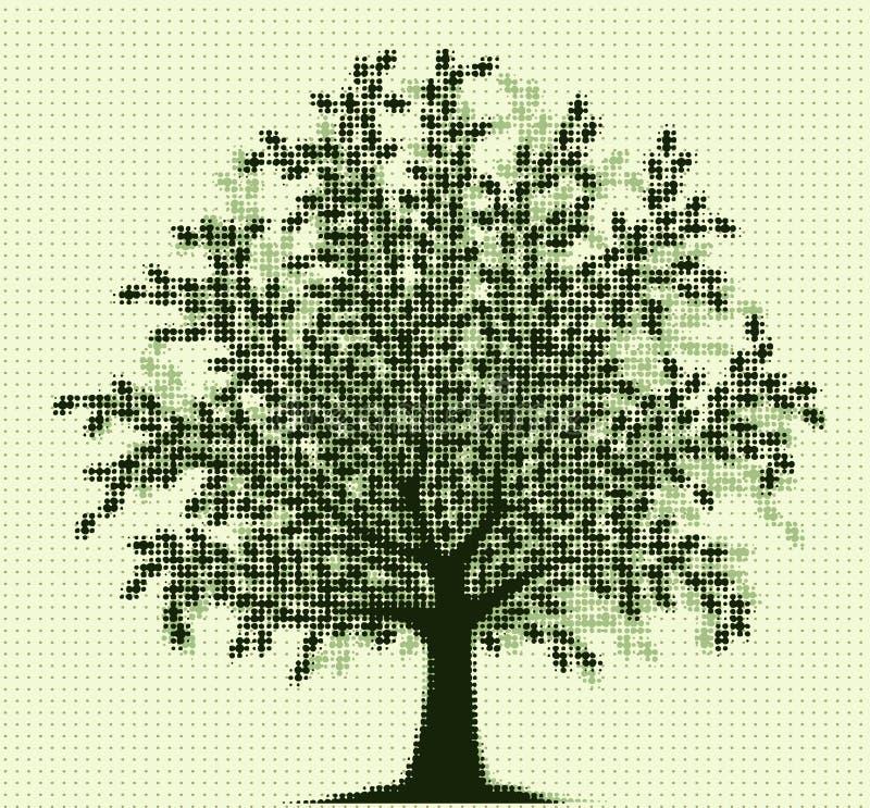 Halbtonbaum lizenzfreie abbildung
