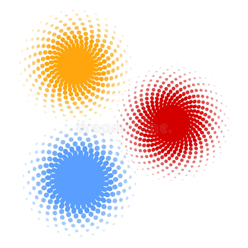 Halbtonbild - Farbenringe vektor abbildung