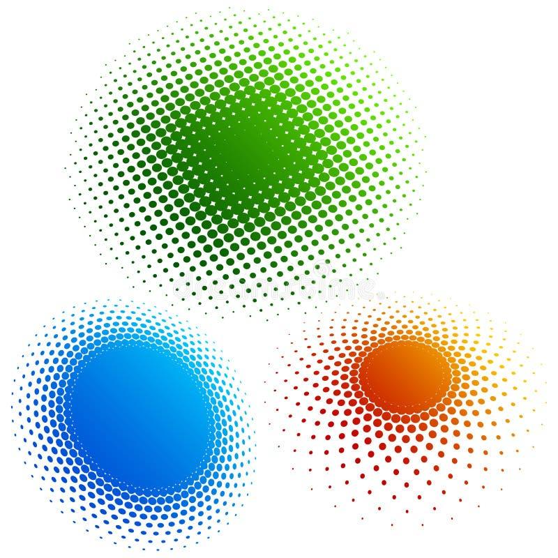 Halbtonbild - Farbenringe 3 vektor abbildung