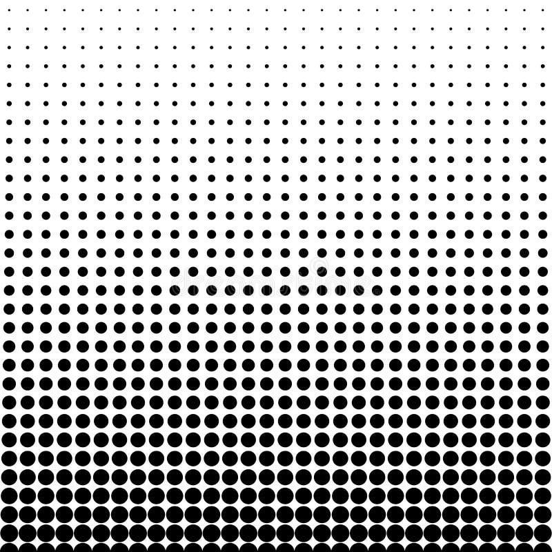 Halbtonbild punktiert Hintergrund Flache Art der Beschaffenheitsvektor-Illustration stock abbildung