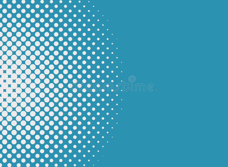 Halbtonbild punktiert Hintergrund Pop-Arten-Art Moderner Hintergrund für Poster, Darstellungen, Visitenkarten, Postkarten vektor abbildung