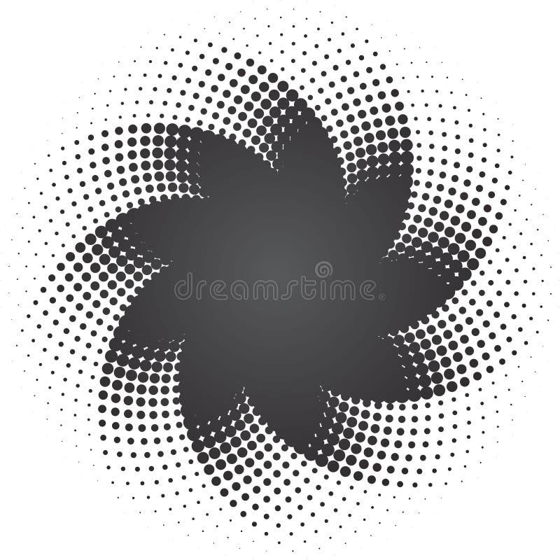 Halbtonbild punktiert Sternhintergrund lizenzfreie abbildung