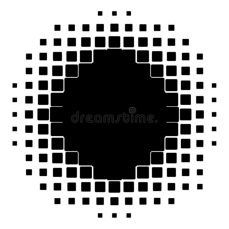 Halbtonbild von den Quadraten stock abbildung