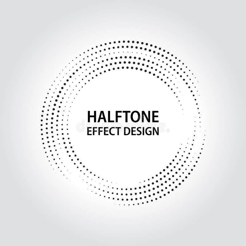 Halbtoneffektentwurfs-Hintergrund ENV 10 Vektor lizenzfreie stockbilder