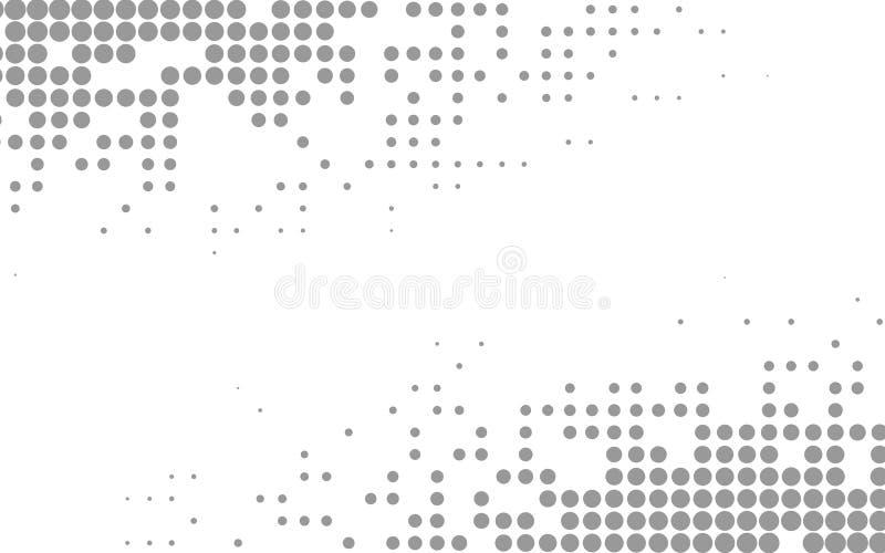 Halbtonmuster Vector Abbildung mit Platz für Text oder Zeichen Halbtonbeschaffenheit vektor abbildung