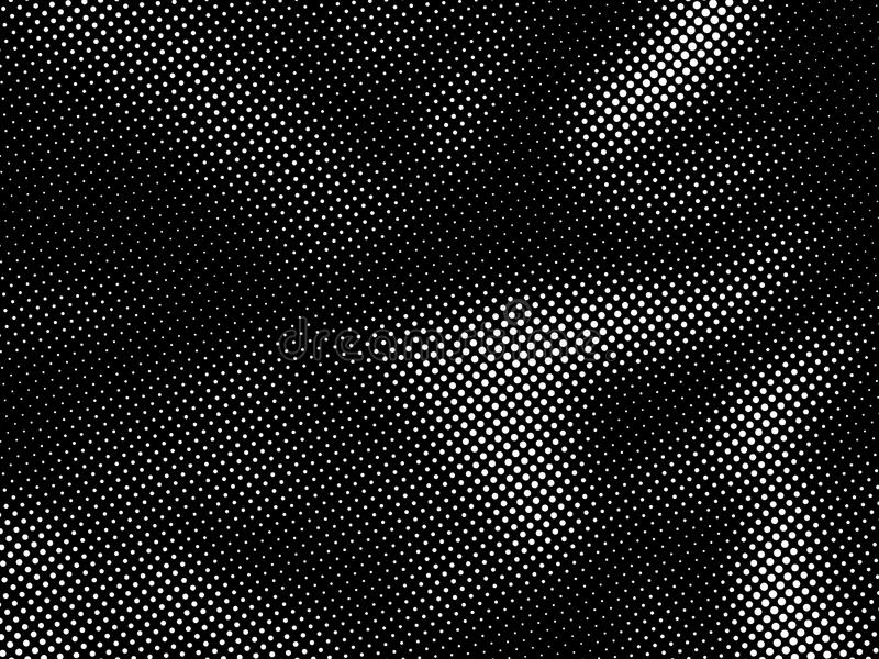 Halbtonpunktmuster Halbton punktierte Schmutz-Beschaffenheit Abstrakter Dots Overlay Texture vektor abbildung
