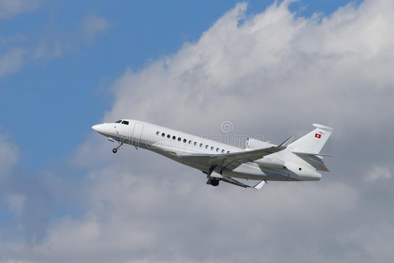 Halcón 7X de Dassault aerotransportado imagen de archivo libre de regalías