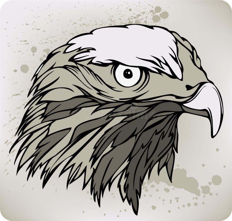 Halcón del halcón, gráfico de la mano. Ejemplo del vector. ilustración del vector
