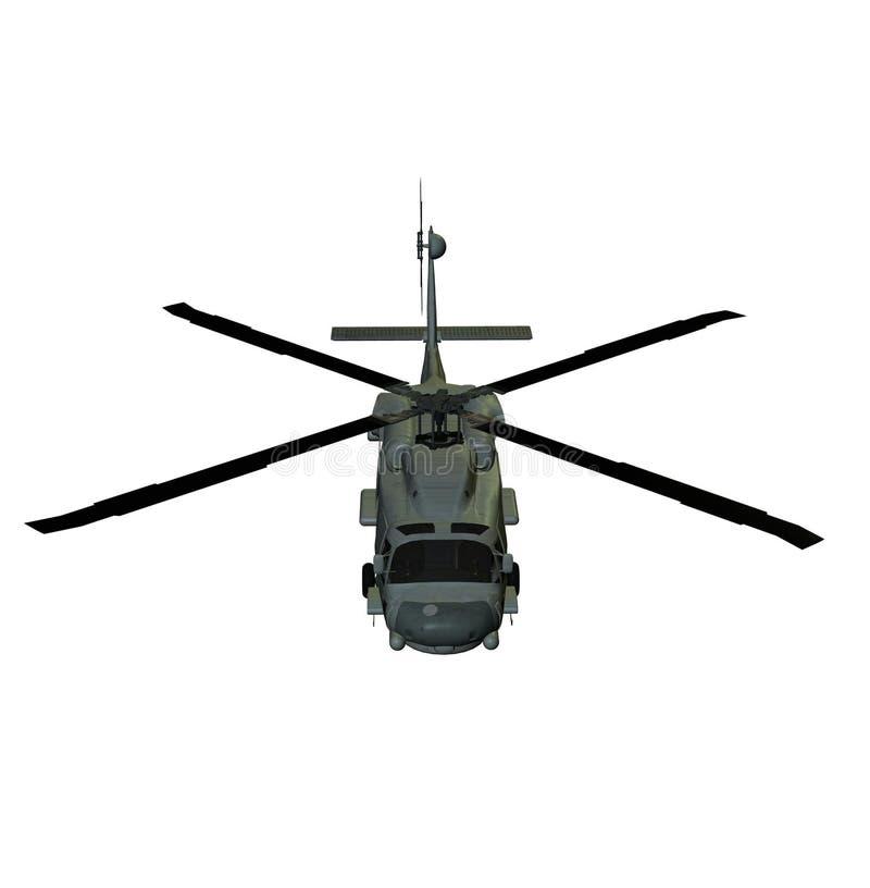 Halcón del mar del helicóptero sh60 stock de ilustración