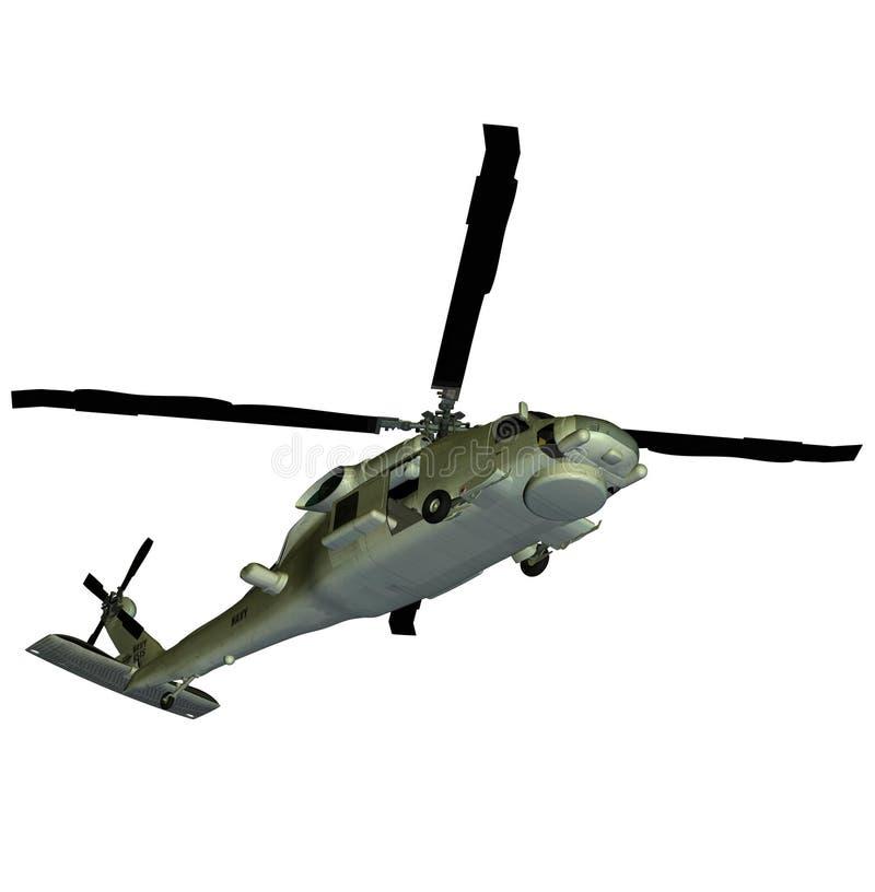 Halcón del mar del helicóptero sh60 ilustración del vector