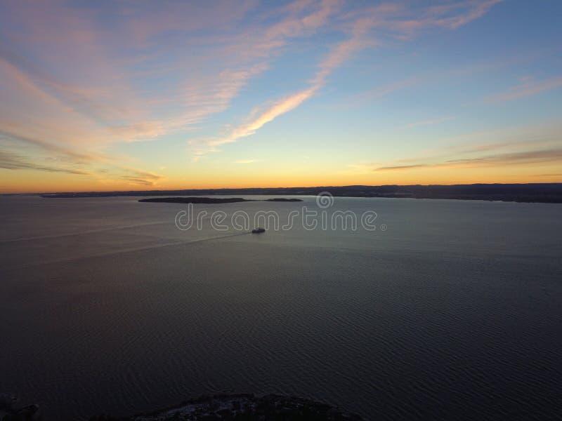 Halden, de luchtfoto van Noorwegen stock afbeeldingen